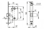 Защелка врезная LH 720-50 SG-1 Мат. золото BOX на 70мм /прям/