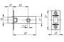 Задвижка врезная DB 920-45-25 SN Матовый никель SKIN
