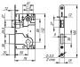 LH 25-50 SG BOX Замок межкомнатный под цилиндр. механизм 1ригель+защёлка (мат золото) с отв. планкой