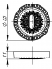 Накладка NORMAL PS/CL SILVER-925 Серебро 925 2 шт.