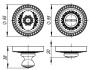 Ручка поворотная WC-BOLT BK6/CL-AS-9 Античное серебро