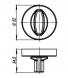 Ручка поворотная WC-BOLT BK6/URB BPVD-77 Вороненый никель