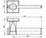 Дверная ручка Armadillo AJAX URB1 USQ1 SN/CP-12 (матовый никель / хром)