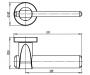 Дверная ручка Armadillo AJAX URB1 АВ-7 (бронза)