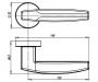 Дверная ручка Armadillo ARC URB2 CP/Brown-16 (хром / коричневый)
