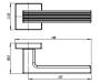 Ручка раздельная LINE URB6 CP-8 (хром)