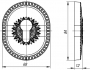 Декоративная накладка на цилиндр ET-DEC CL (ATC Protector 1) AS-9 Античное серебро