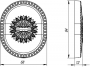Декоративная накладка на сувальдный замок PS-DEC CL (ATC Protector 1) OB-13 Античная бронза