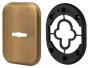 Декоративная Квадратная накладка на сувальдный замок PS-DEC SQ (ATC Protector 1) AB-77 Бронза
