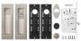 Набор для раздвижных дверей SH011 URB SN-3 (матовый никель)