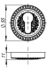 Накладка CYLINDER ET/CL-CP-8 Хром 2 шт.
