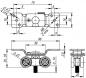 Комплект роликов для раздвижных дверей DIY Comfort 60/4 kit (877)