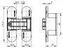 Петля скрытой установки с 3D-регулировкой UNIVERSAL 3D-ACH 60 AB (бронза)