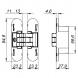 Петля скрытой установки Armadillo 9540UN3D с 3D-регулировкой CP (хром)