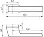 """Дверная ручка Armadillo (Армадилло) """"BRICK"""" UCS SN-3 (матовый никель)"""